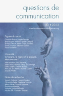 Questions de communication, n°23/2013