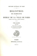 Registre des délibérations du bureau de la ville de Paris