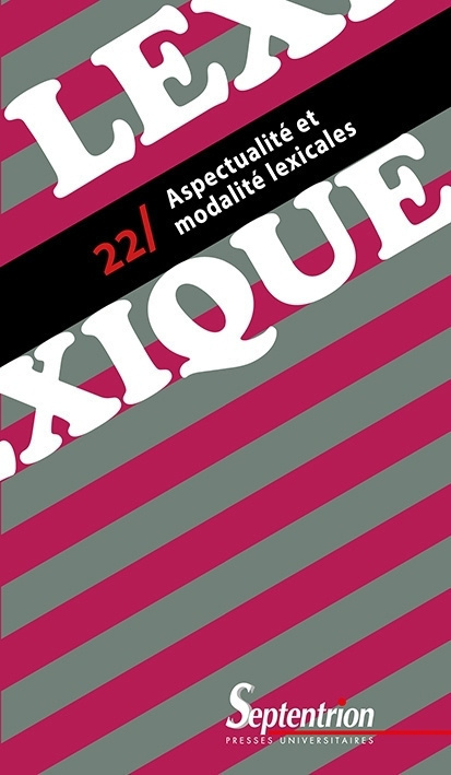 lexique 22    aspectualit u00e9 et modalit u00e9 lexicales  sommaire