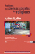 Archives de sciences sociales des religions n° 181/2018