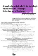 Revue suisse de sociologie, vol. 39, Issue 2/2013
