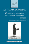 Le transcendantal: Réceptions en mutations d'une notion kantienne Book Cover