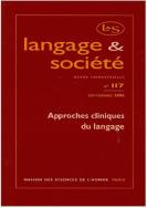 Langage et société, n°117/sept. 2006.