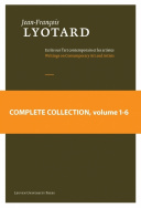 Jean-François Lyotard: Writings on Contemporary Art and Artists