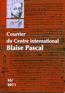 Courrier du Centre international Blaise Pascal, n° 33/2011