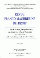 Revue franco-maghrébine de droit, n°2/1994