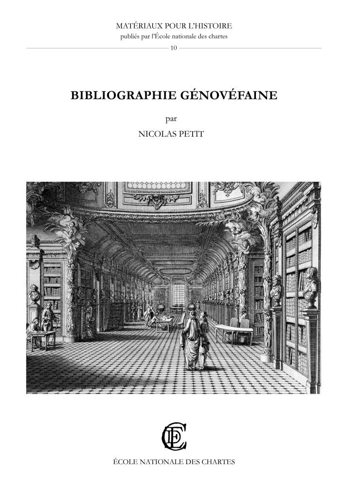 Bibliographie génovéfaine, Ouvrages publiés par les chanoines ...
