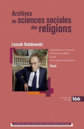 Archives de sciences sociales des religions, n°166